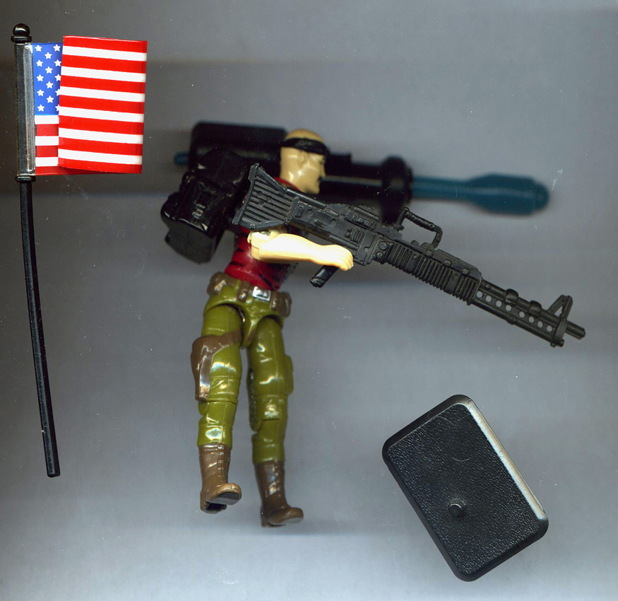 Vintage GI JOE 1990 général véhicule tourelle Siège arme Upper Deck Gun Missle